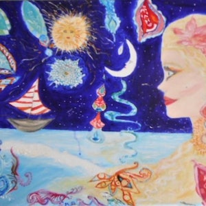 (CreativeWork) 'Journey' by Tessara Brown. arcylic-painting. Shop online at Bluethumb.