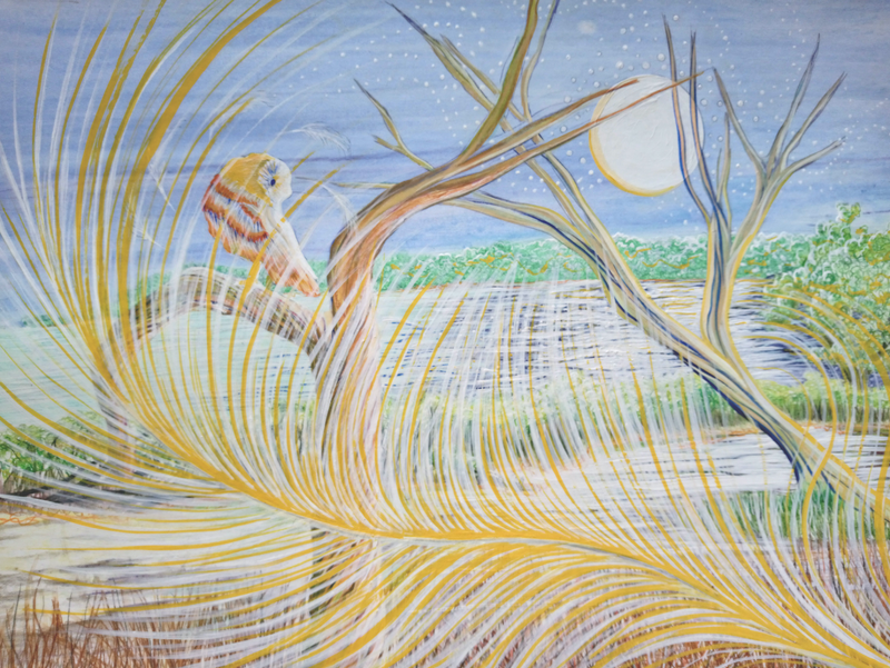 (CreativeWork) Dancing  Deadwood by Sally Lancaster. Drawings. Shop online at Bluethumb.