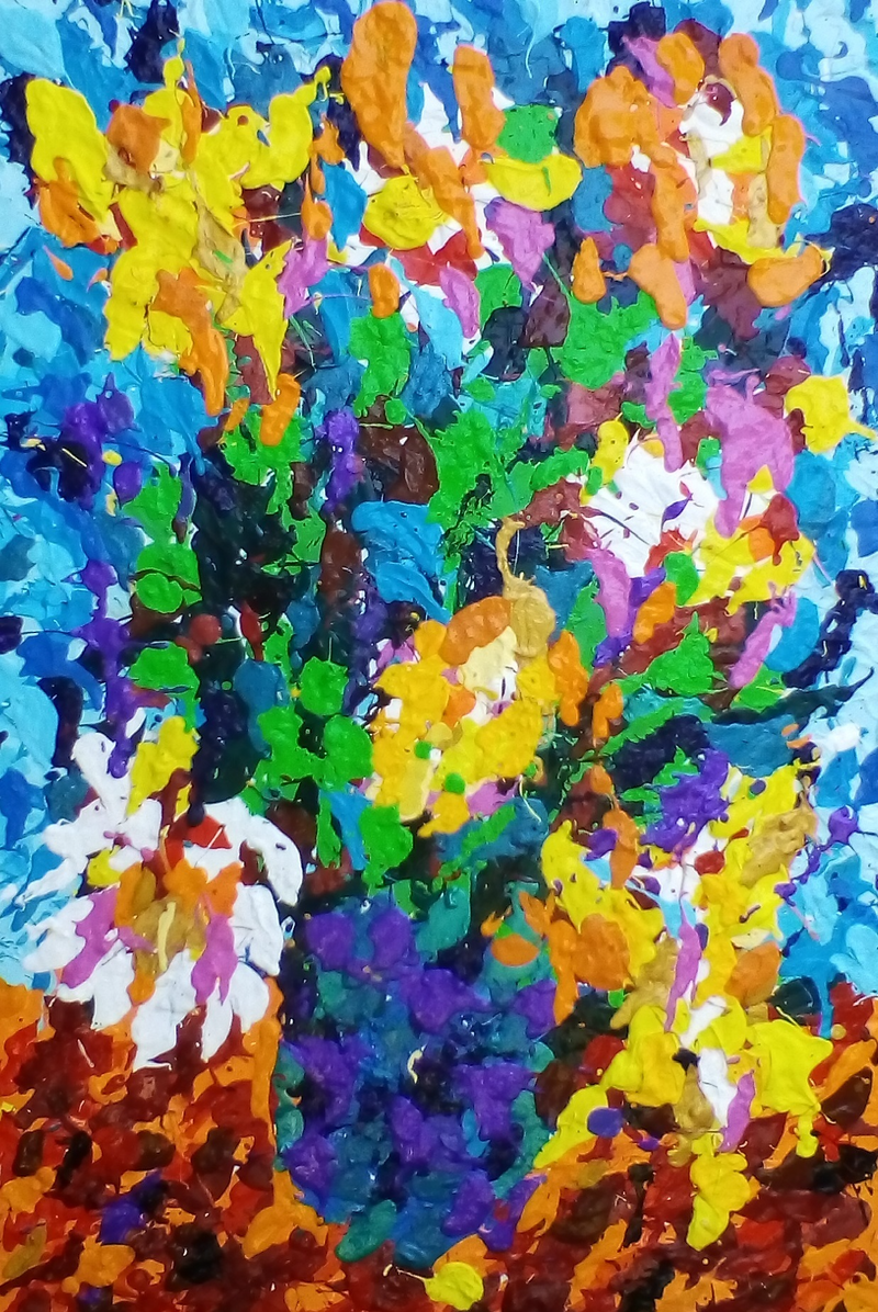 (CreativeWork) sunfloweryellow by john chappell. Acrylic Paint. Shop online at Bluethumb.