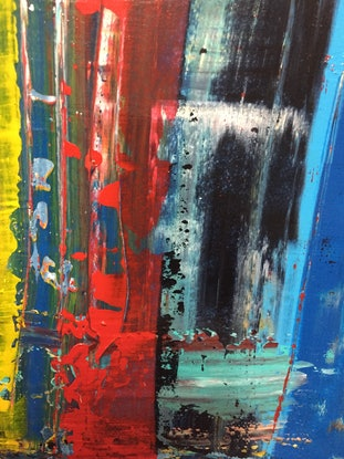 (CreativeWork) Vibrant by Julie Dynan. Acrylic Paint. Shop online at Bluethumb.