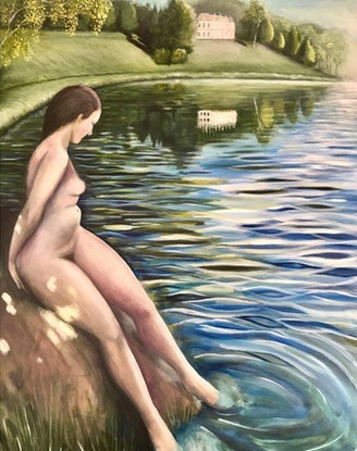(CreativeWork) The Plunge (L'immersion) by Tracey Knowland. Acrylic Paint. Shop online at Bluethumb.