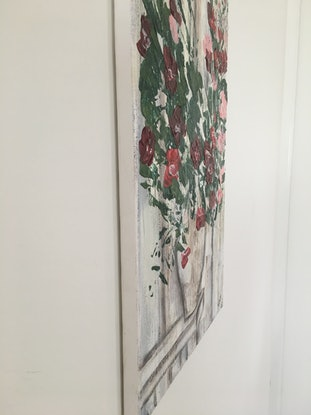 (CreativeWork) Vintage Blossoms by Nicole Nash. Acrylic Paint. Shop online at Bluethumb.