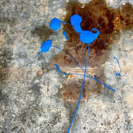 (CreativeWork) Rust and blue Ed. 1 of 100 by Margaret Darque. Reproduction Print. Shop online at Bluethumb.