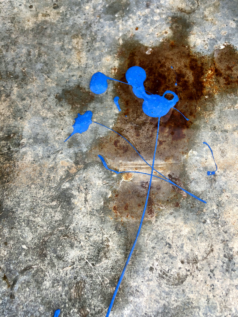 (CreativeWork) Rust and blue Ed. 1 of 100 by Margaret Darque. Print. Shop online at Bluethumb.