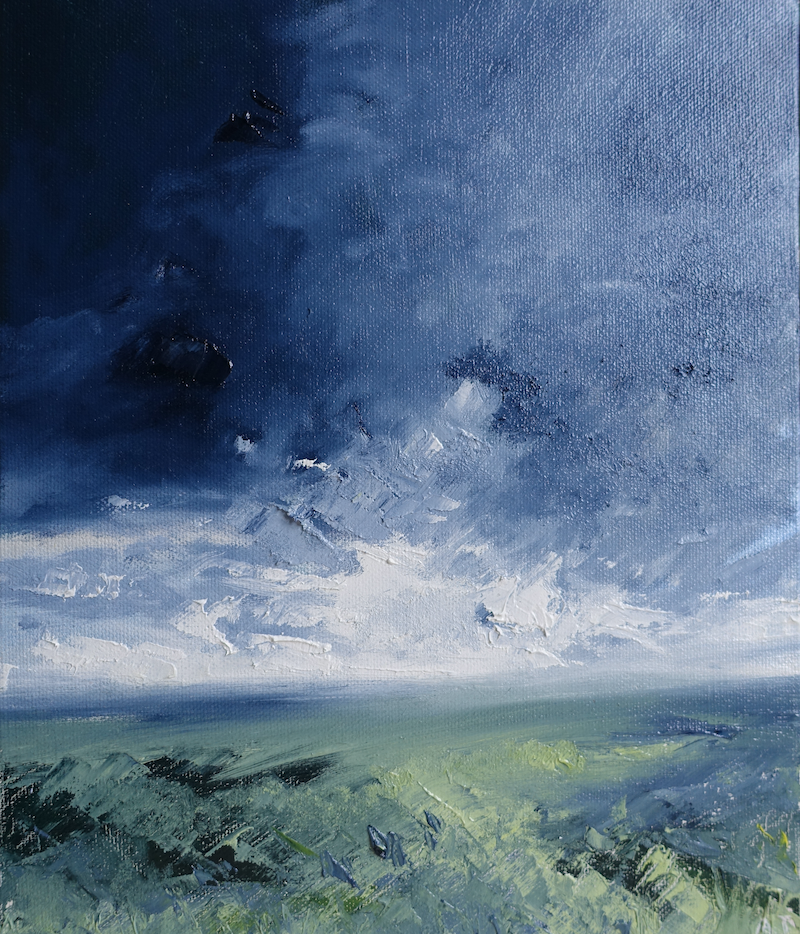 (CreativeWork) Chasing the light by Allison Taplin. Oil Paint. Shop online at Bluethumb.