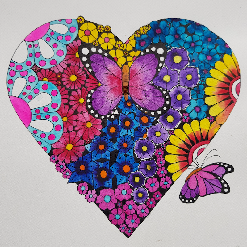 (CreativeWork) flutterby by Deb Coulter. Watercolour Paint. Shop online at Bluethumb.