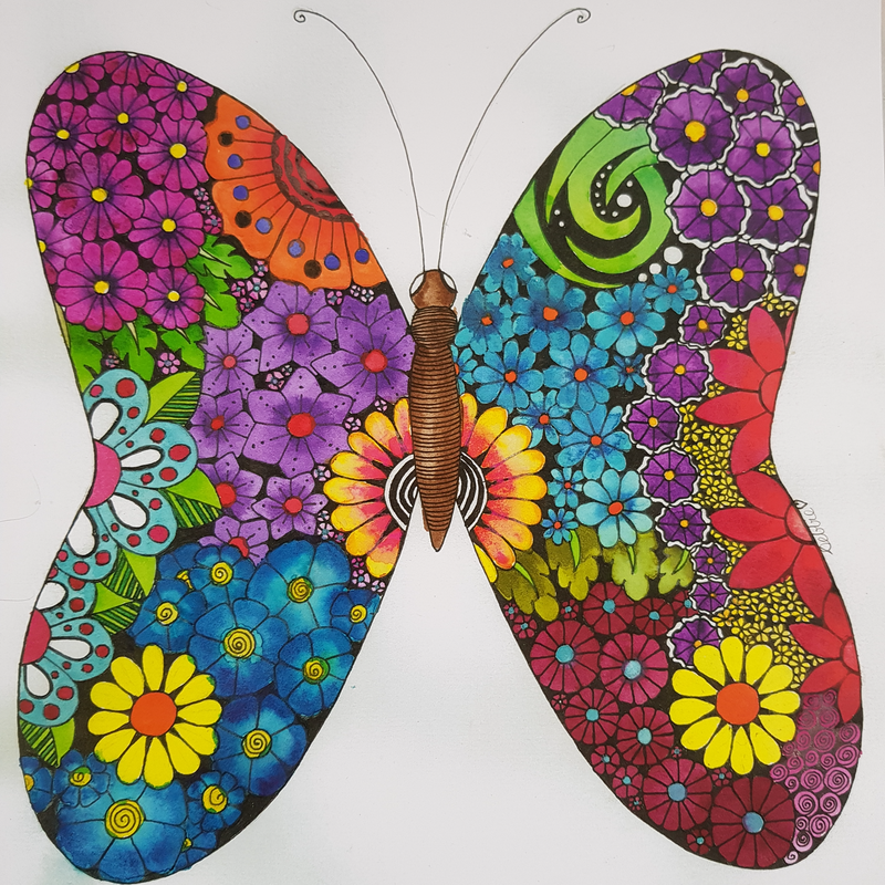 (CreativeWork) Butterfly  by Deb Coulter. Watercolour Paint. Shop online at Bluethumb.