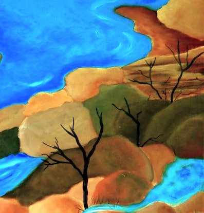 (CreativeWork) Flow by Doodie Herman. Acrylic Paint. Shop online at Bluethumb.