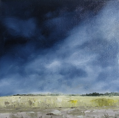 (CreativeWork) Stormy skies by Allison Taplin. Oil Paint. Shop online at Bluethumb.