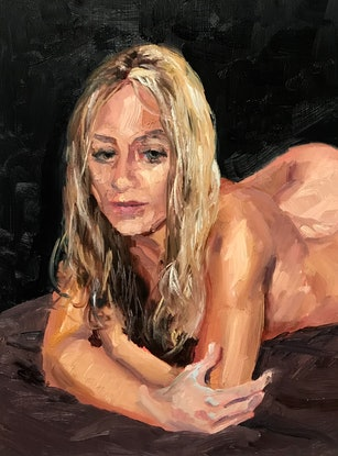(CreativeWork) Why don't you paint me any more? I by James Needham. Oil Paint. Shop online at Bluethumb.