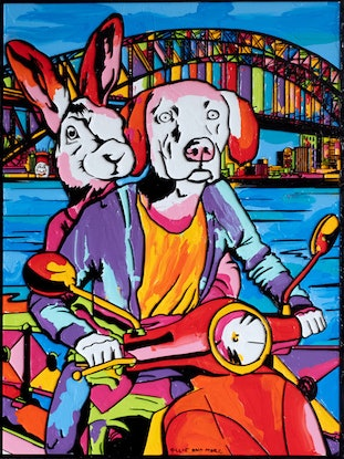 (CreativeWork) She thought Sydney is the place of wonder and joy Ed. 1 of 100 by Gillie and Marc Schattner. Print. Shop online at Bluethumb.