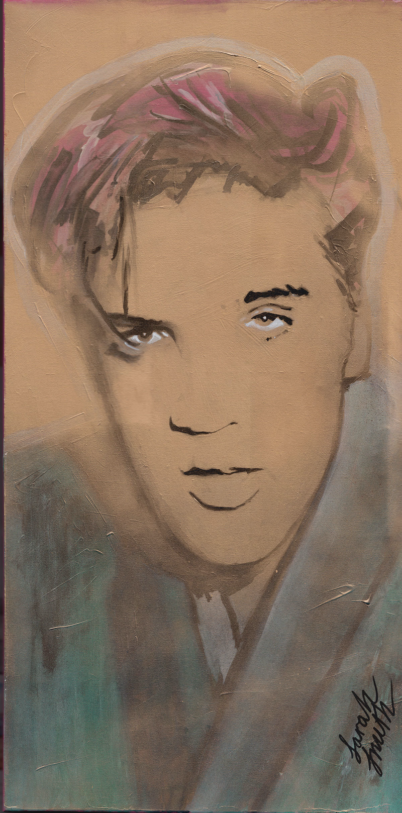 (CreativeWork) Golden Boy by Sarah Smith. Acrylic Paint. Shop online at Bluethumb.