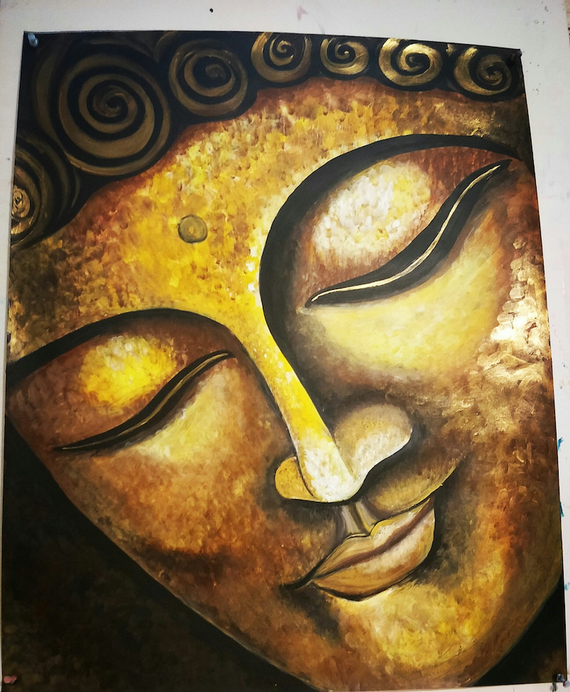 (CreativeWork) Master the CHAOS in you by Atty Mann. Acrylic Paint. Shop online at Bluethumb.