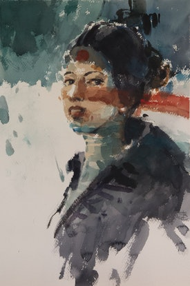 (CreativeWork) Not quite Japanese 1 by Tony Belobrajdic. Watercolour Paint. Shop online at Bluethumb.