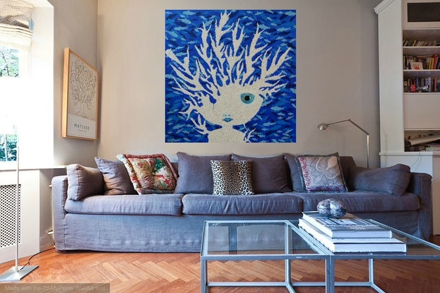 (CreativeWork) ORIGINAL Artwork Bleached from Connected Series by Tanya Smith. Acrylic Paint. Shop online at Bluethumb.