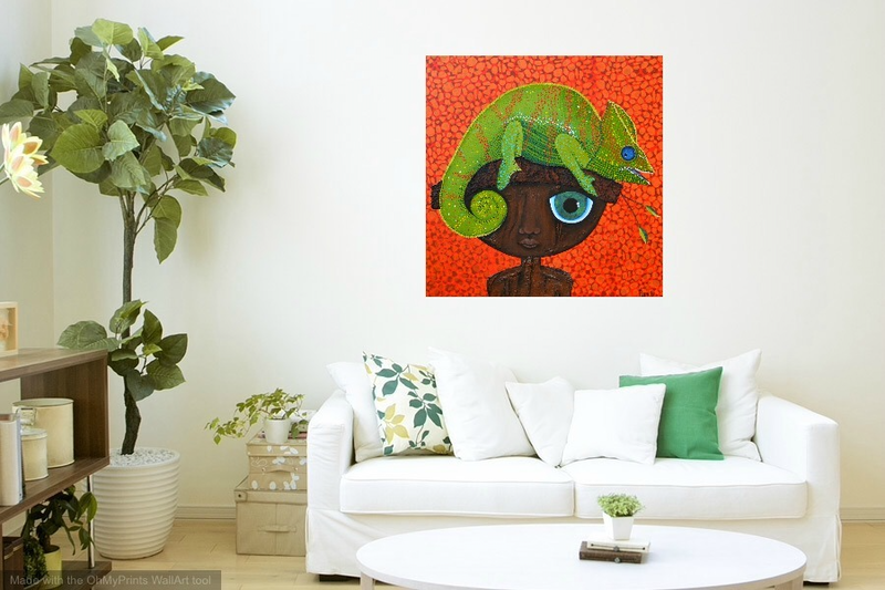 (CreativeWork) ORIGINAL Artwork Camouflaged from Connected Series  by Tanya Smith. Acrylic Paint. Shop online at Bluethumb.