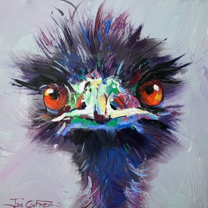 (CreativeWork) Emu 48 by Jos Coufreur. arcylic-painting. Shop online at Bluethumb.