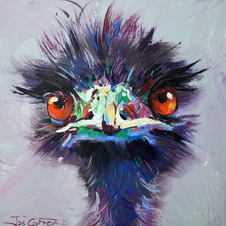 (CreativeWork) Emu 48 by Jos Coufreur. Acrylic Paint. Shop online at Bluethumb.