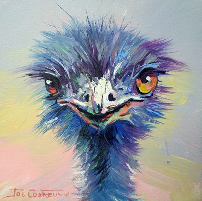 (CreativeWork) Emu 49 by Jos Coufreur. Acrylic Paint. Shop online at Bluethumb.