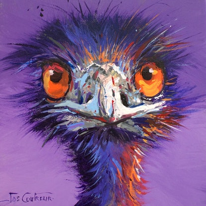 (CreativeWork) Emu 50 by Jos Coufreur. Acrylic Paint. Shop online at Bluethumb.