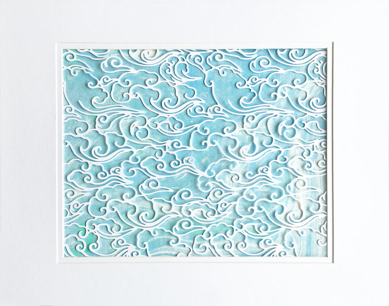 (CreativeWork) Cut paper clouds - paper cutting paper art by Jennifer Bell. Other Media. Shop online at Bluethumb.