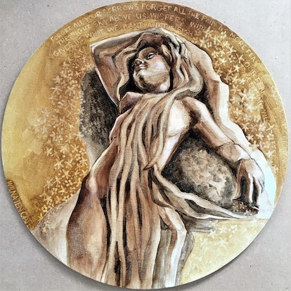 (CreativeWork) Forest Nymph by Wilna ten Cate. Oil Paint. Shop online at Bluethumb.