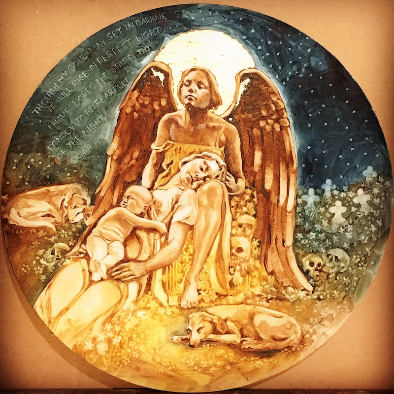 (CreativeWork) Guardian Angel by Wilna ten Cate. Oil Paint. Shop online at Bluethumb.
