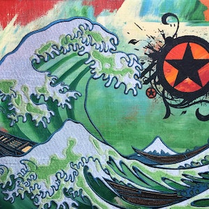 (CreativeWork) The Great Wave (Toxic Version) by Leon Fernandes. other-media. Shop online at Bluethumb.