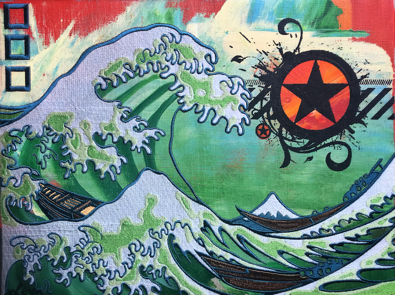(CreativeWork) The Great Wave (Toxic Version) by Leon Fernandes. Other Media. Shop online at Bluethumb.