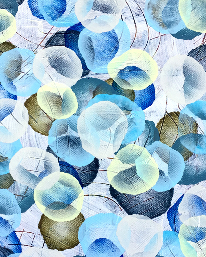 (CreativeWork) Aqueous Drift XVIII – Original Painting Blue by Jacquelyn Stephens. Acrylic Paint. Shop online at Bluethumb.