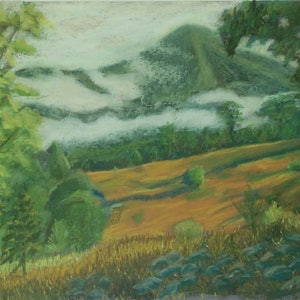 (CreativeWork) Looking Towards Misty Ridge by Tracey Murrell. drawing. Shop online at Bluethumb.