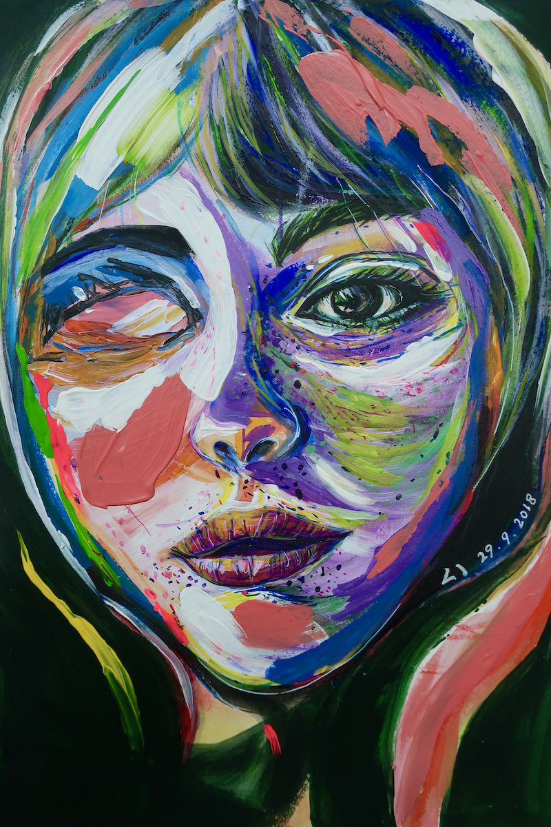(CreativeWork) MISS by Lily Iris. Acrylic Paint. Shop online at Bluethumb.