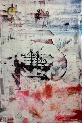 (CreativeWork) The Blush (The Age Of The Exile) by Louise Croese. Mixed Media. Shop online at Bluethumb.