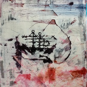 (CreativeWork) The Blush (The Age Of The Exile) by Louise Croese. mixed-media. Shop online at Bluethumb.