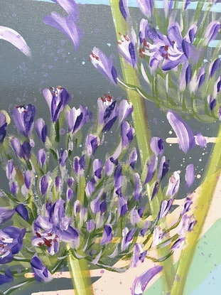 (CreativeWork) LAY LOW, AIM HIGH.  - Agapanthus  by HSIN LIN. Acrylic Paint. Shop online at Bluethumb.