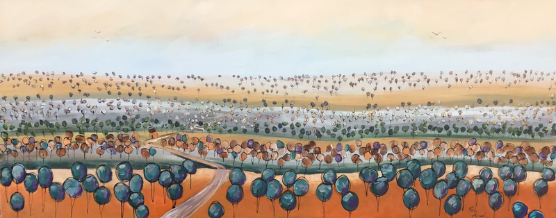 (CreativeWork) Bush track  by Ron Brown. Acrylic Paint. Shop online at Bluethumb.