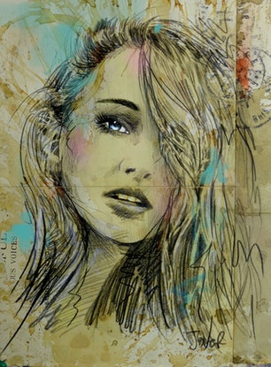 (CreativeWork) VOICES CARRY by loui jover. Drawings. Shop online at Bluethumb.