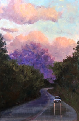 (CreativeWork) On the way home  by Shelly Du. Acrylic Paint. Shop online at Bluethumb.