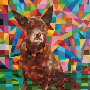 (CreativeWork) red dog by mary shackman. #<Filter:0x00007f3c24c67ea8>. Shop online at Bluethumb.