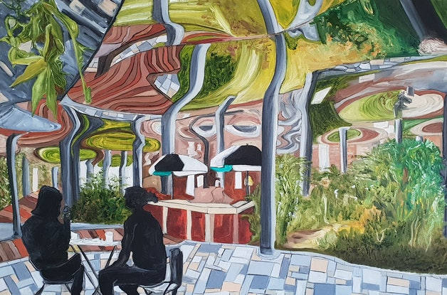 (CreativeWork) The Underground Garden by Paul Crowe. Oil Paint. Shop online at Bluethumb.