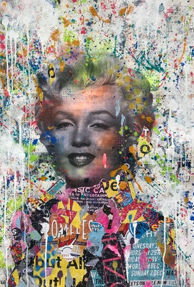 (CreativeWork) Pop Icon MM by Cold Ghost. Mixed Media. Shop online at Bluethumb.