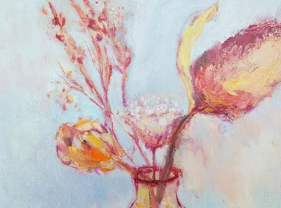 (CreativeWork) Winter banksia by Amanda Cutlack. Oil Paint. Shop online at Bluethumb.