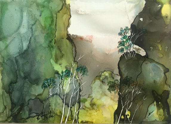 (CreativeWork) Looking South by Christine Hyde. Mixed Media. Shop online at Bluethumb.