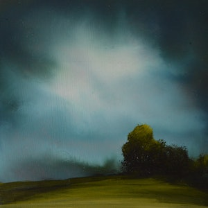 (CreativeWork) Last Light by Elaine Green. oil-painting. Shop online at Bluethumb.