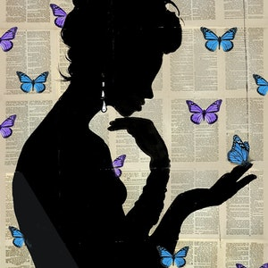 (CreativeWork) BLUE BUTTERFLIGHT by loui jover. drawing. Shop online at Bluethumb.