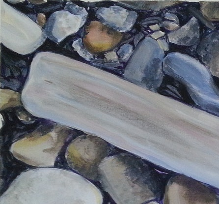 (CreativeWork) DUSK AT SPICER'S COVE  by Suzy Strout. Acrylic Paint. Shop online at Bluethumb.