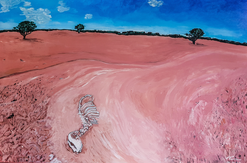 (CreativeWork) Drought Victims_1 by Paul Crowe. Acrylic Paint. Shop online at Bluethumb.