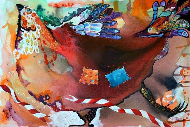 (CreativeWork) The winner - original abstract painting by Yelena Revis. Acrylic Paint. Shop online at Bluethumb.