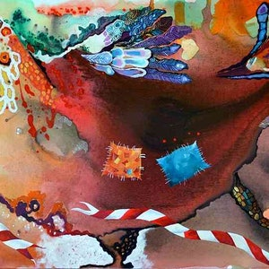 (CreativeWork) The winner - original abstract painting by Yelena Revis. arcylic-painting. Shop online at Bluethumb.