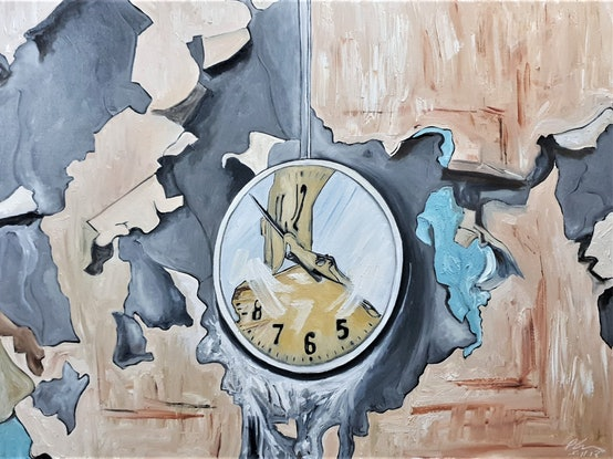 (CreativeWork) Abandoned Clock by Paul Crowe. Oil Paint. Shop online at Bluethumb.